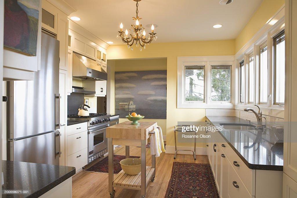 Kitchen interior after restoration