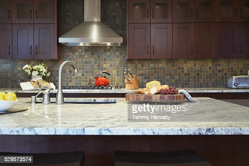 Kitchen island : Stockfoto
