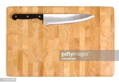 Coltello da cucina sul Tagliere di Clipping Path