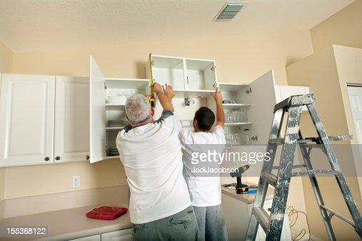 Kitchen remodeling cabinet installation