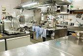 Modern kitchen in a hotel or restaurant