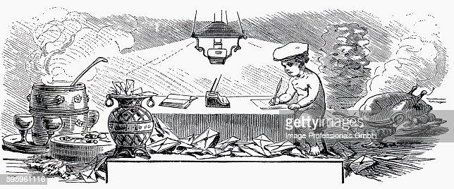 Kitchen scene (illustration)