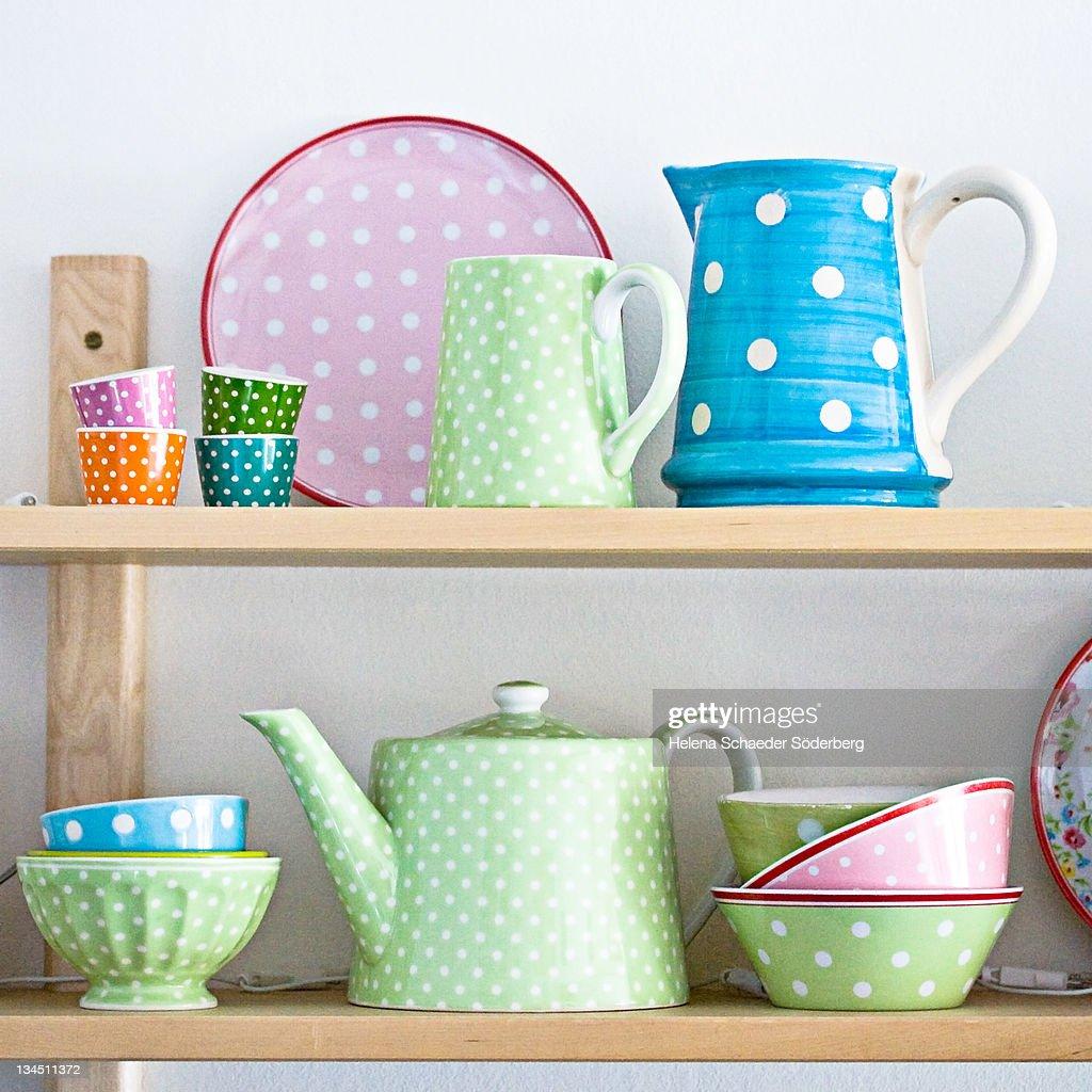 Kitchen Shelf Arrangement: Kitchen Shelf Arrangement Stock Photo