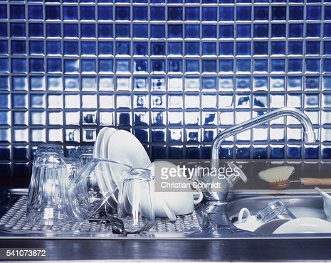 Kitchen Sink With Clean Dishes delighful kitchen sink with clean dishes plate in hd stock video