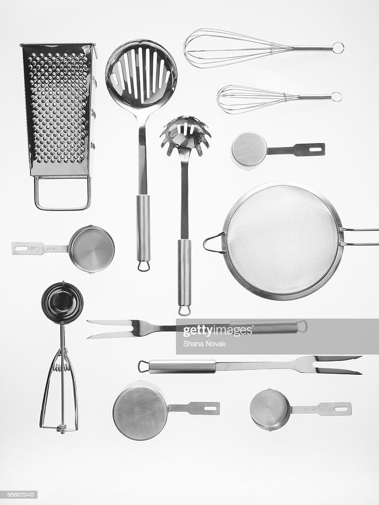 Kitchen tools on white background : Stock Photo
