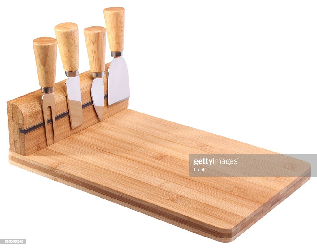kitchen tools set on wooden board. isolated on white background. : Stock Photo