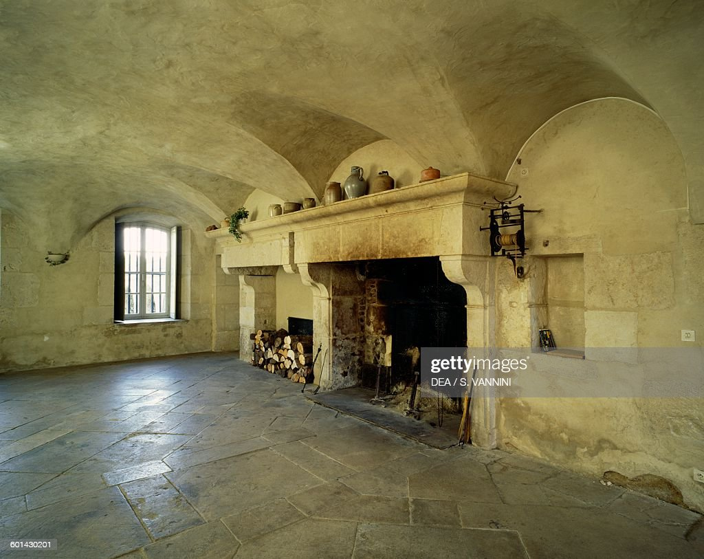 kitchen with fireplace chateau de thenissey pictures getty