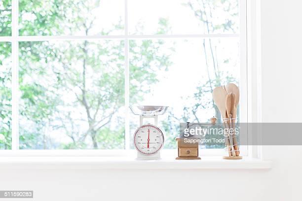 Kitchenware On Windowsill