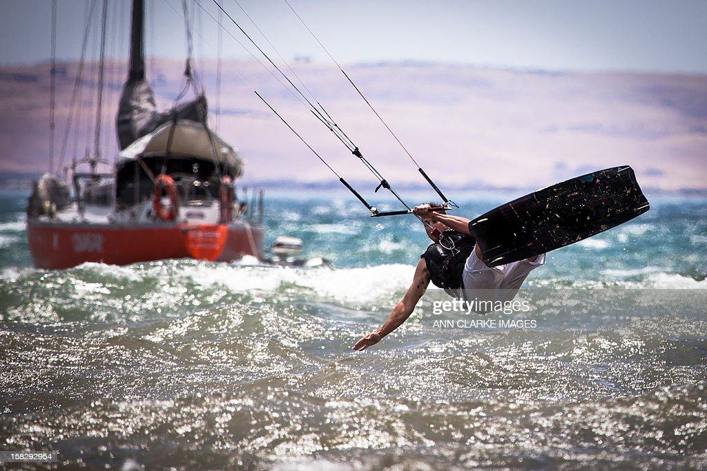 Kite Board action : Stock Photo