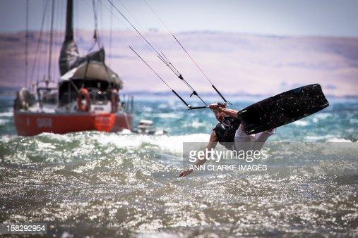 Kite Board action : Stock Photo