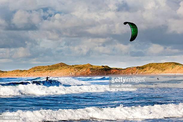 Kite boarder, doughmore beach, doonbeg, county clare, ireland