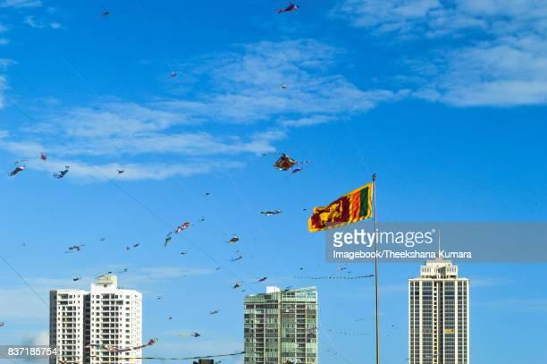 Kite festival at Galle Face Green, Colombo, Sri Lanka
