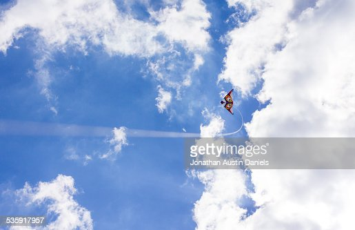 Kite voar : Foto de stock
