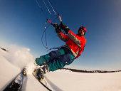 Kite skiiing
