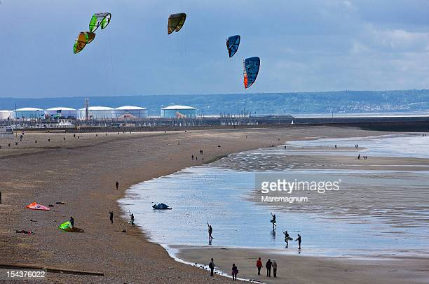 Kite surf on the beach