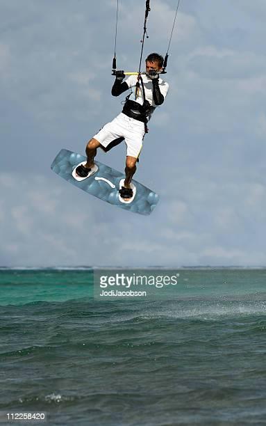 kite surfeur dans la mer des Caraïbes