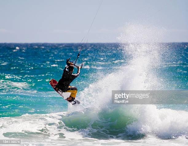 Kite surfer Abheben