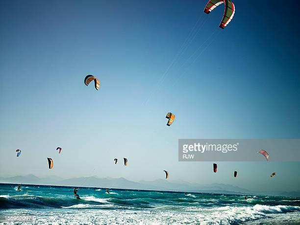 Kite Surfers Milo Beach