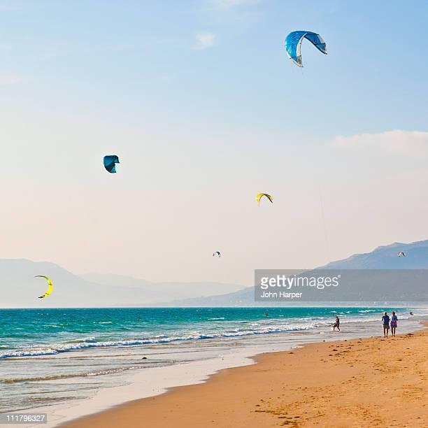 Kite Surfers, Tarifa, Spain