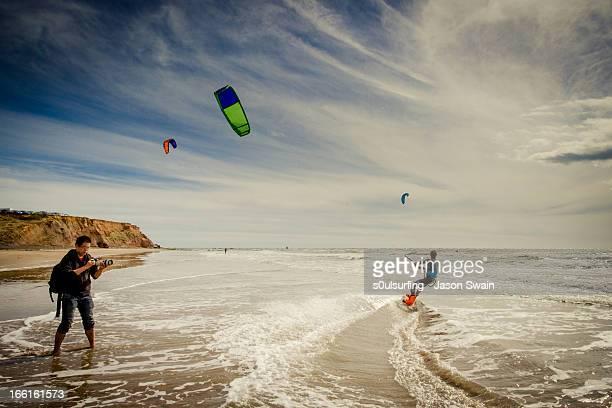 Kite Surfing at Compton Bay