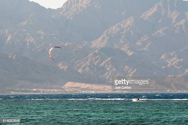 Kiteboarding em Dahab, Sinai, Egito