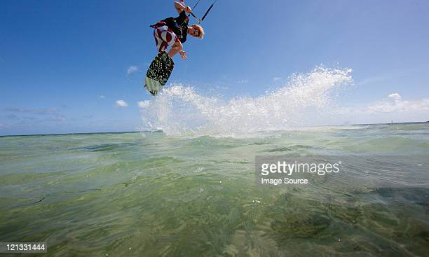 Kiteboarding in shallow water