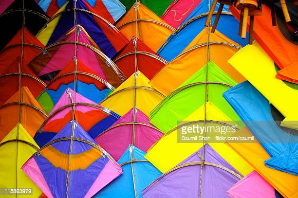 Kites in all colours