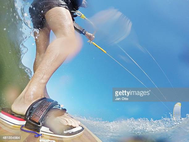 Kitesurfaction in North sea of St.Peter-Ording, Germany, GoPro image