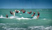 Kitesurfer Back Roll / Loop Sequence