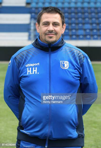 Kitman Heiko Horner poses during the team presentation of 1 FC Magdeburg at MDCCArena on July 13 2017 in Magdeburg Germany