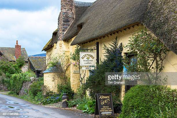 Kitnors traditional and quaint cafeteria tearooms at Bossington in Exmoor National Park Somerset United Kingdom