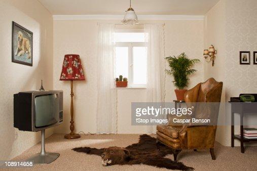 A kitsch living room