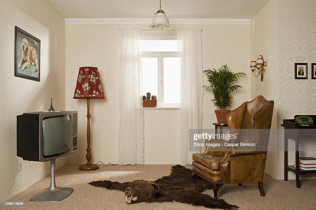 A Kitsch Living Room : Stock Photo