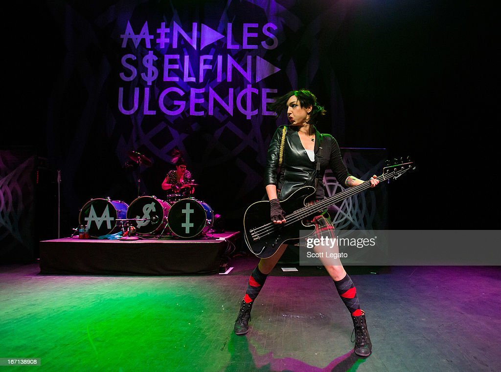 Kitty and LynZ from Mindless Self Indulgence performs at The Fillmore on April 20 2013 in Detroit Michigan