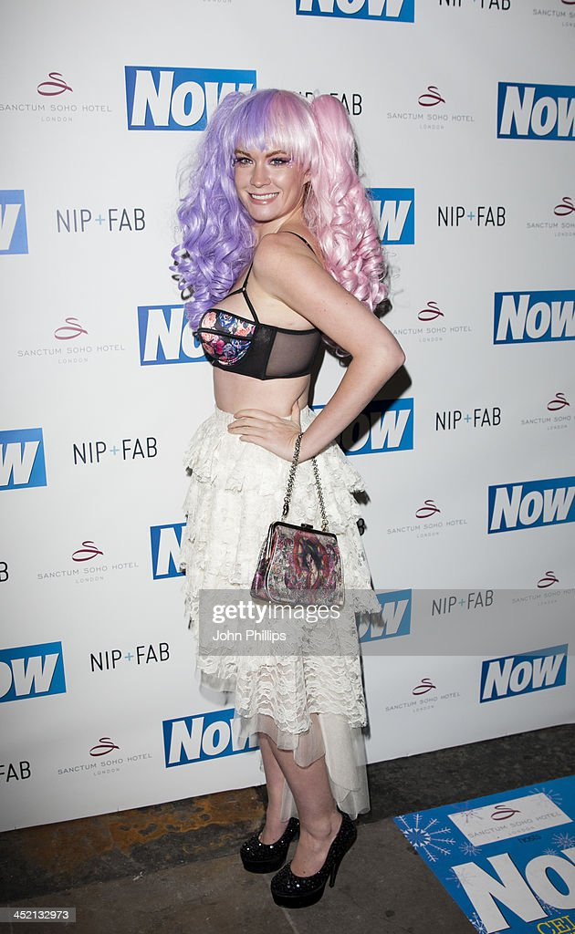 Kitty Brucknell attends the Now Magazine Christmas party at Soho Sanctum Hotel on November 26, 2013 in London, England.