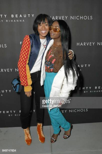 Kitty Cash and Siobhan Bell attend the Fenty Beauty x Harvey Nichols Launch at Harvey Nichols on September 19 2017 in London England