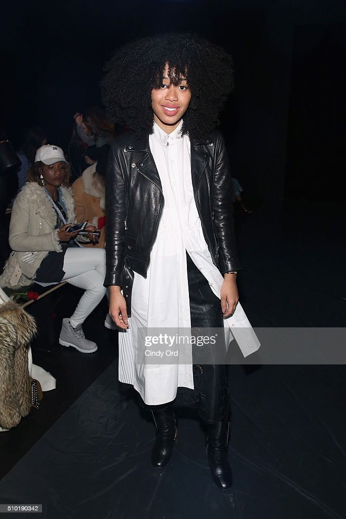 Kitty Cash attends the Tome Fall 2016 fashion show during New York Fashion Week: The Shows at The Dock, Skylight at Moynihan Station on February 14, 2016 in New York City.