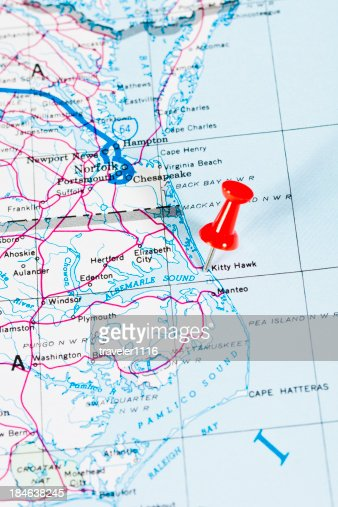 Us Capital Cities On Map Series Raleigh North Carolina Nc Stock - Map of us showing dayton and kitty hawk