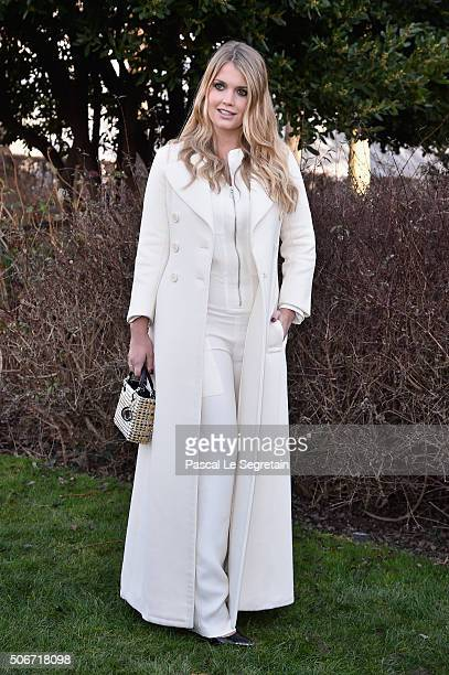 Kitty Spencer attends the Christian Dior Spring Summer 2016 show as part of Paris Fashion Week on January 25 2016 in Paris France