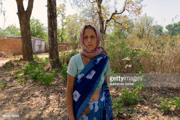 MCCLUSKIEGUNJ RANCHI JHARKHAND INDIA Kitty Texeria one of the AngloIndians living at McCluskiegunj poses for a portrait She had married a tribal man...