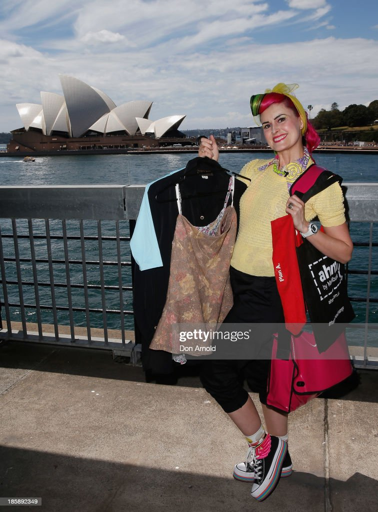 Kitty Vontastique poses at the AHM Fashion Exchange at The Overseas Passenger Terminal on October 26, 2013 in Sydney, Australia.