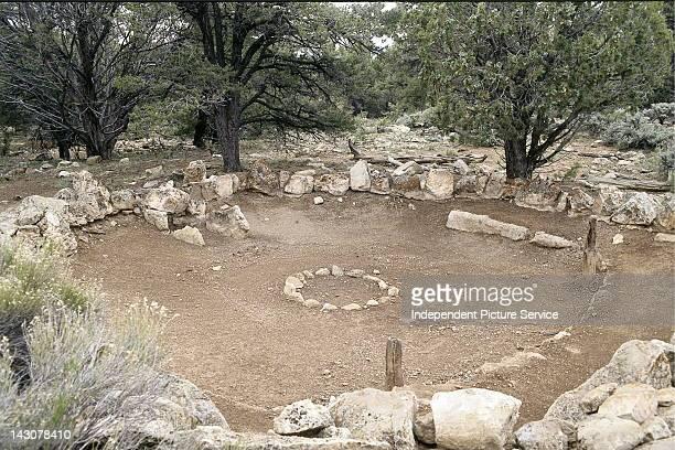Kiva or ceremonail room at Tusayan ruins in the Grand Canyon