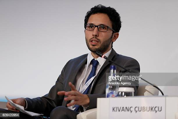 Kivanc Cubukcu Project Manager of Kois Invest attends a session titled 'Towards an Islamic Finance and Impact Investing Ecosystem' during the 7th...