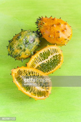 kiwano or horned melon cucumis metuliferus