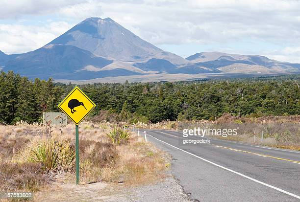 Kiwi Bird Road Sign