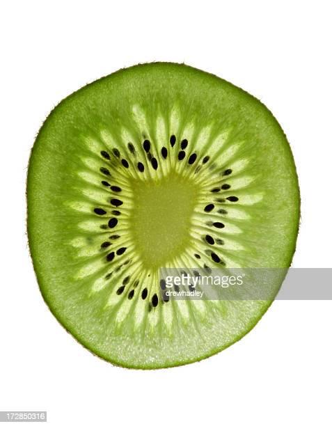 Kiwi Fruit, backlit.