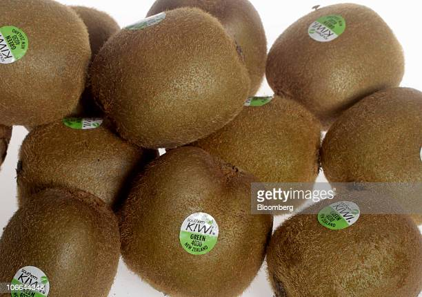 Kiwi fruit is arranged for a photograph in Auckland New Zealand on Tuesday Nov 9 2010 New Zealand the world's thirdlargest kiwifruit producer said...