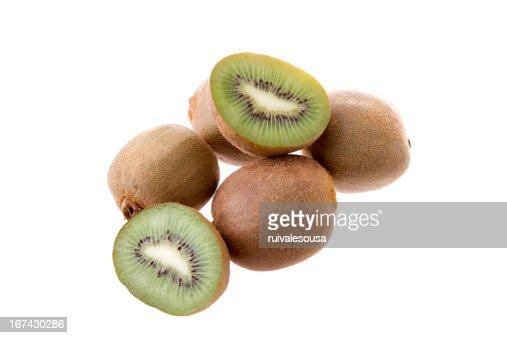 kiwi aislado : Foto de stock