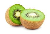 Fresh juicy kiwi isolated on white background