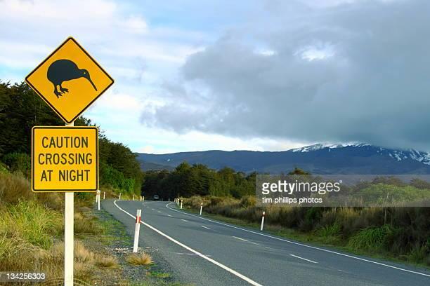 Kiwi sign post